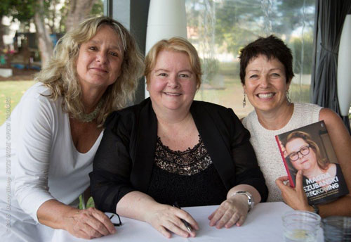 Annie, Magda and Rachel - literary lunch with Magda Szubanski talking about her new memoir Reckoning